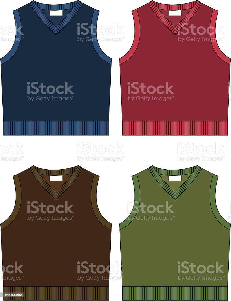 Boys Sleeveless Sweater royalty-free stock vector art