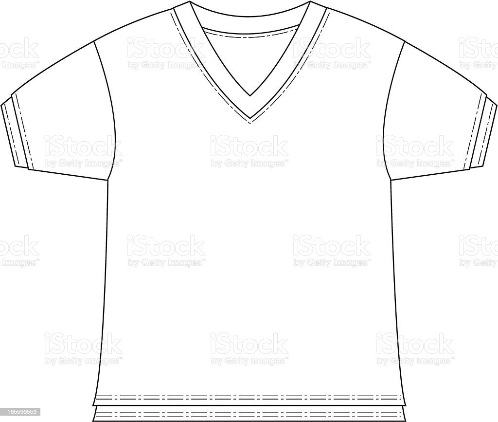 Boys V Neck Tshirt Template Stock Vector Art 165596559