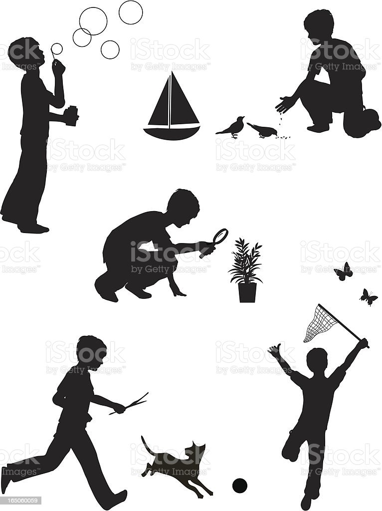 Boys royalty-free stock vector art
