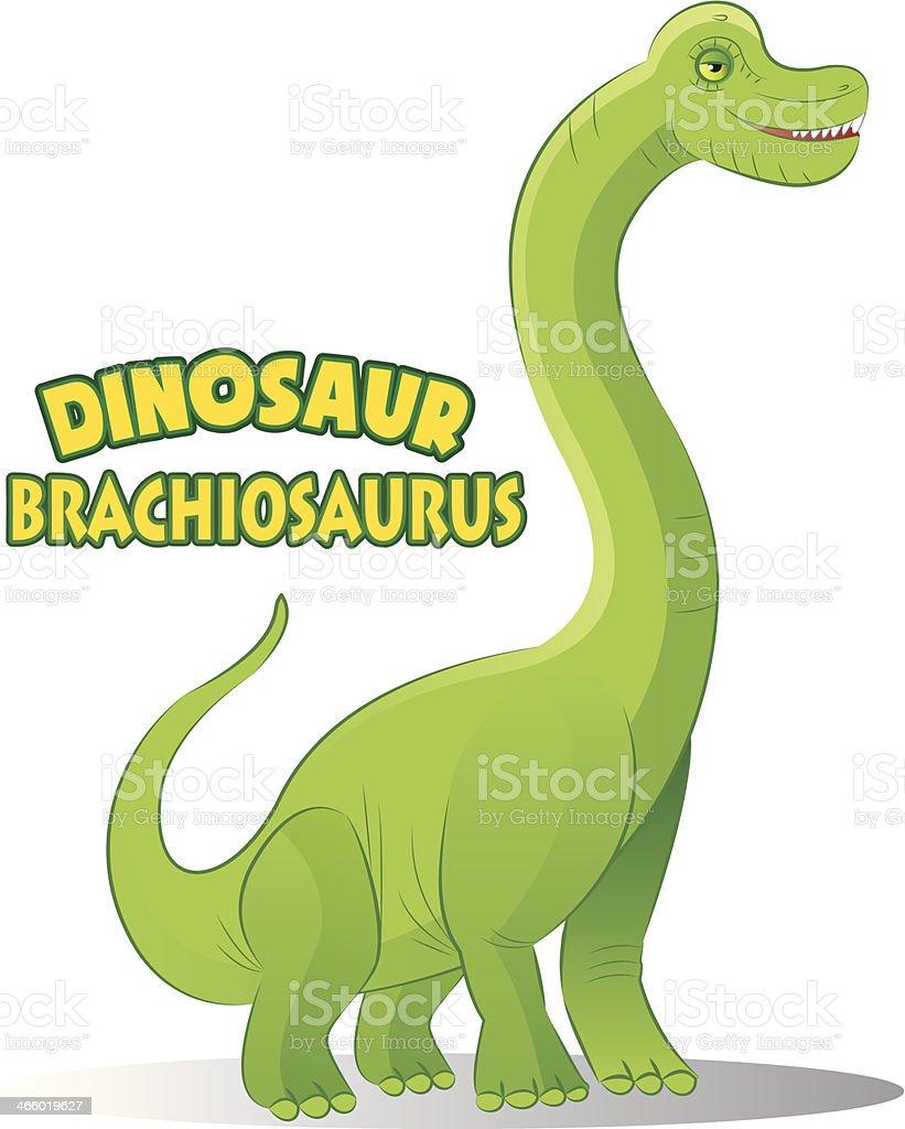 Brachiosaurus royalty-free stock vector art