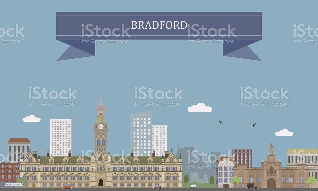 Bradford, England vector art illustration