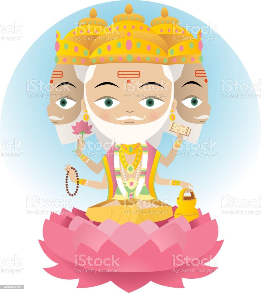 Brahma royalty-free stock vector art