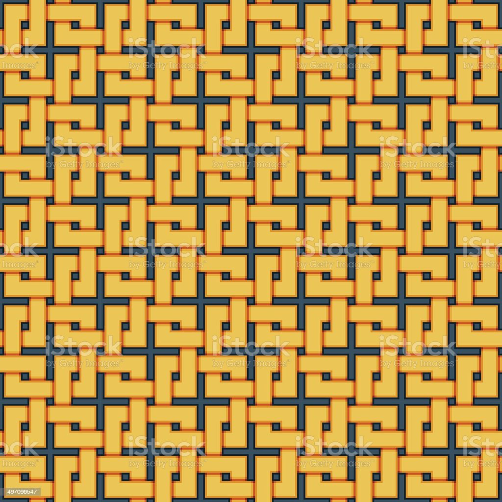 Braided pattern. Seamless background of wicker lines. royalty-free stock vector art