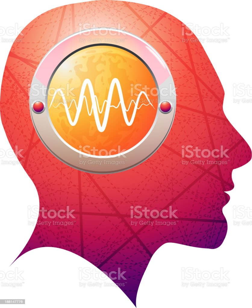 Brain Activity vector art illustration