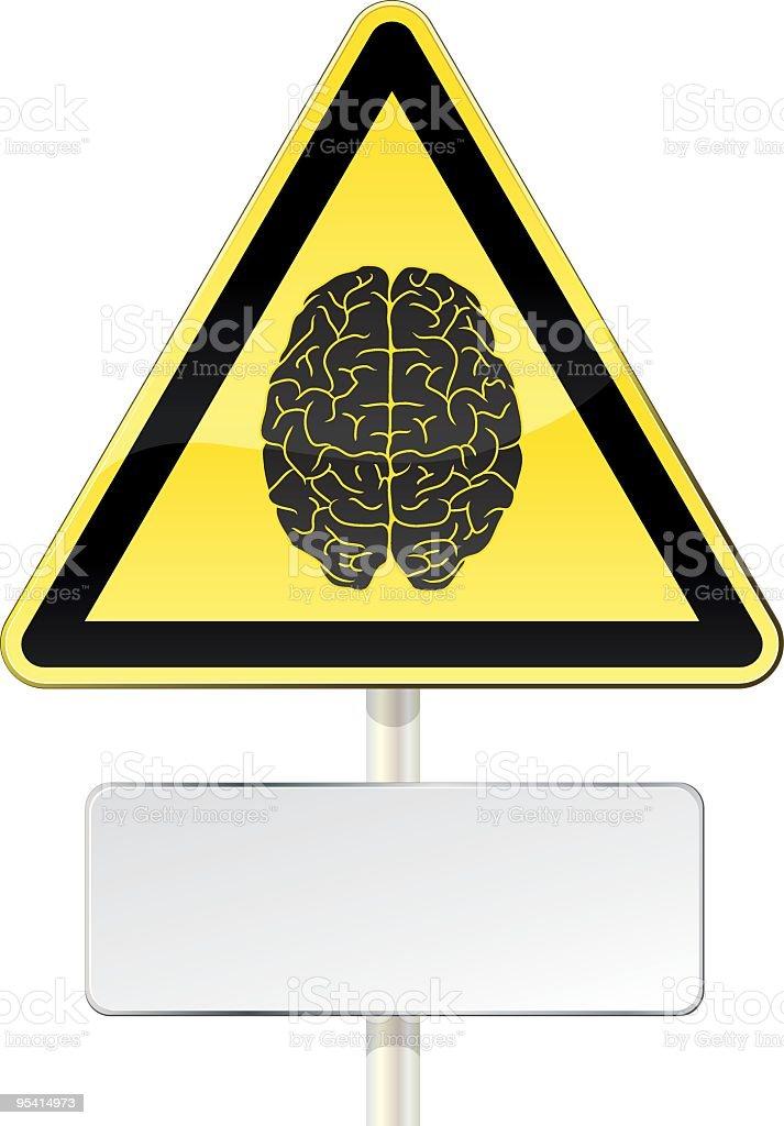 Brain alert royalty-free stock vector art