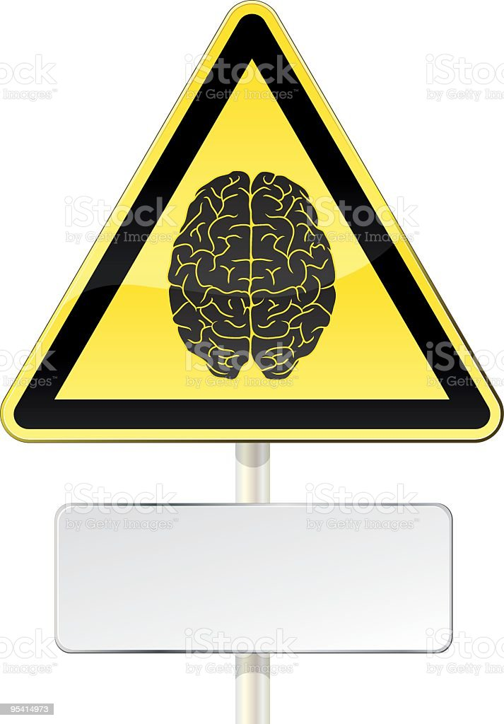 Brain alert vector art illustration