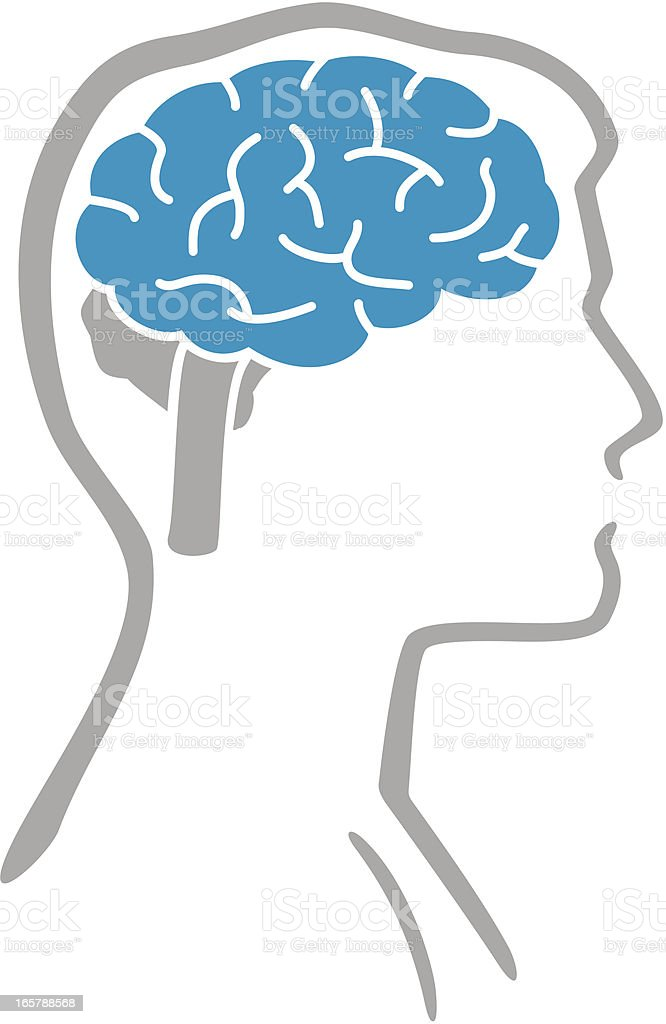 Brain and human body royalty-free stock vector art