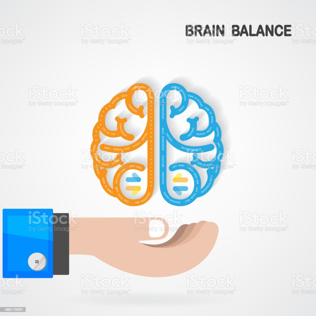 Brain balance concept vector art illustration