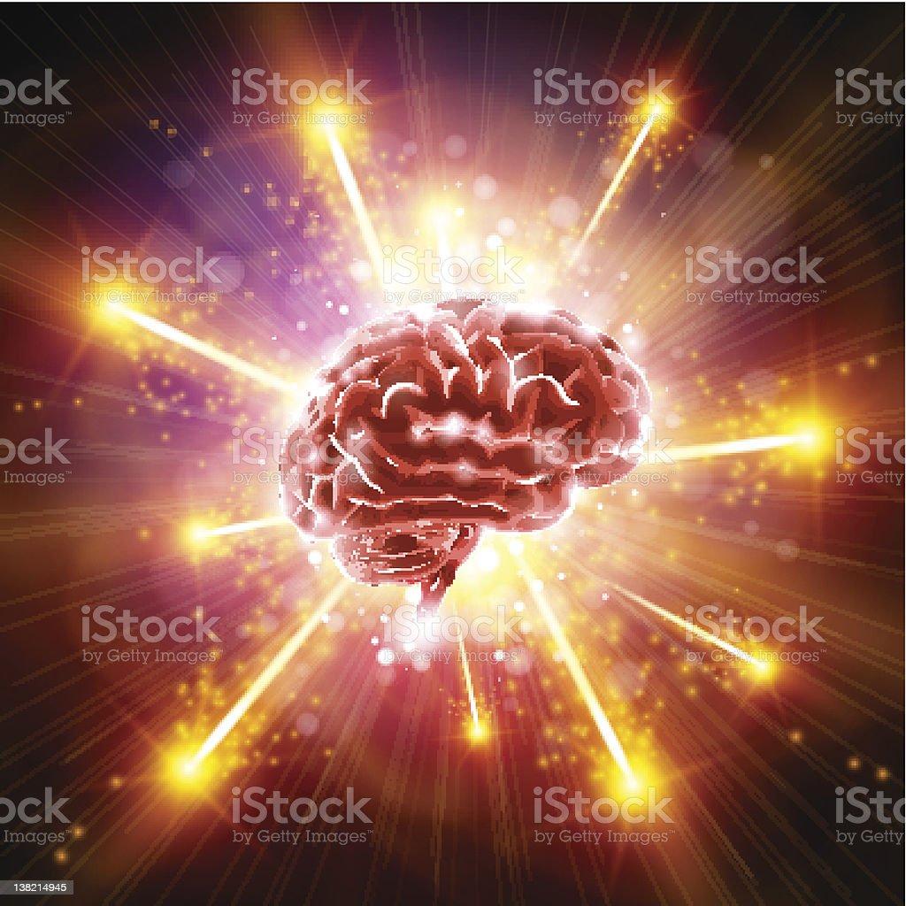 Brain Bang royalty-free stock photo