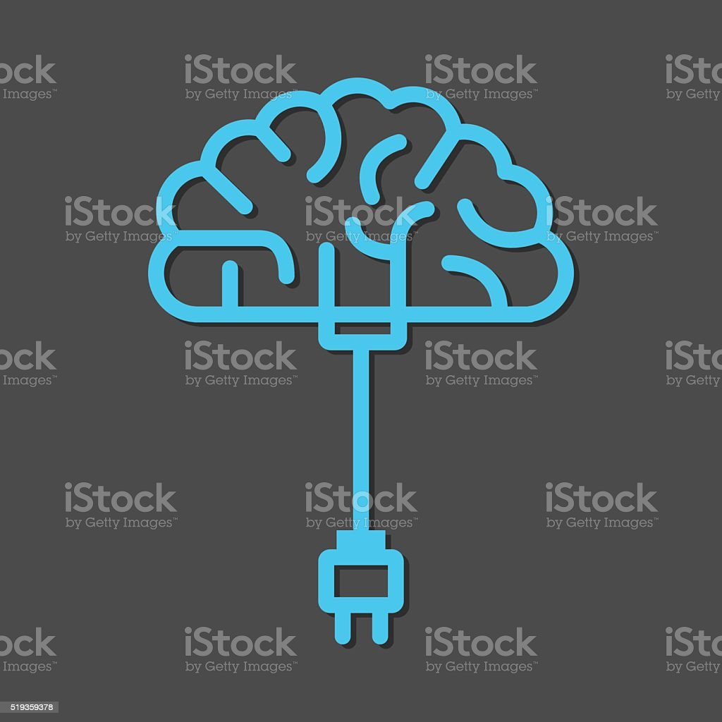 Brain Charge vector art illustration