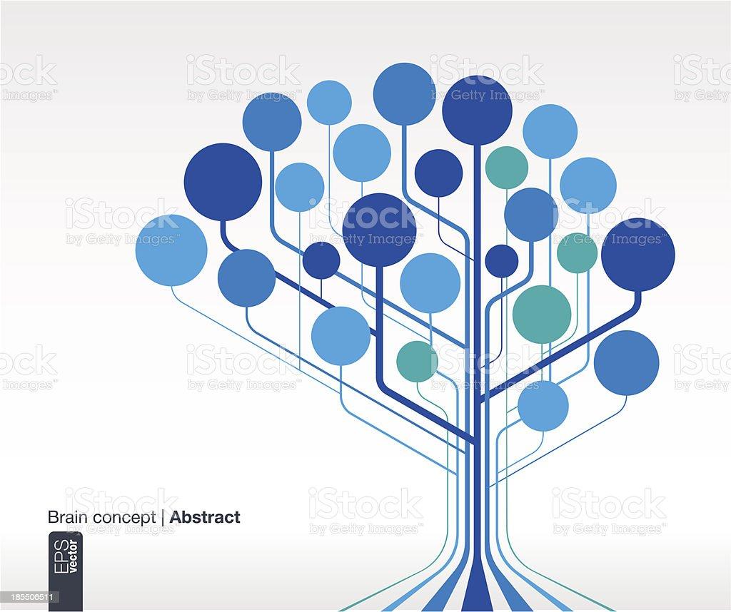Brain concept for communication, infographic, business, medical, network, web design vector art illustration