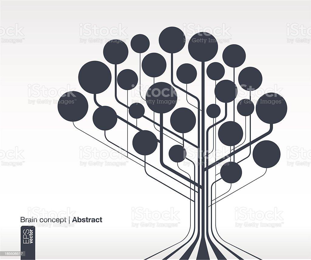 Brain concept for communication, infographic, business, medical, web design. vector art illustration