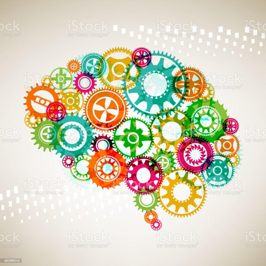 Brain Concept vector art illustration