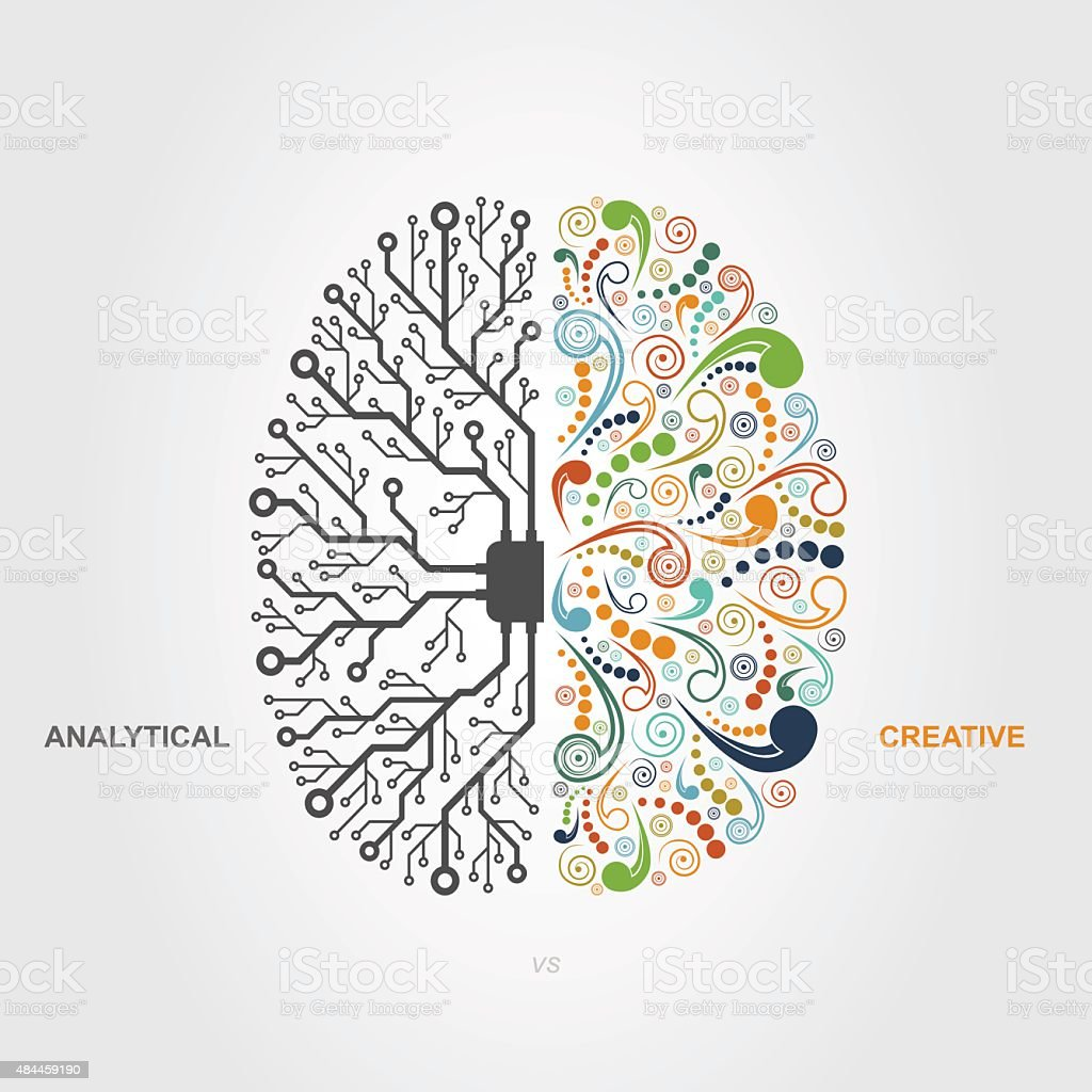 brain concept vector art illustration