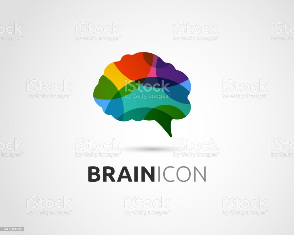 Brain, Creative mind, man head, learning and design icon vector art illustration