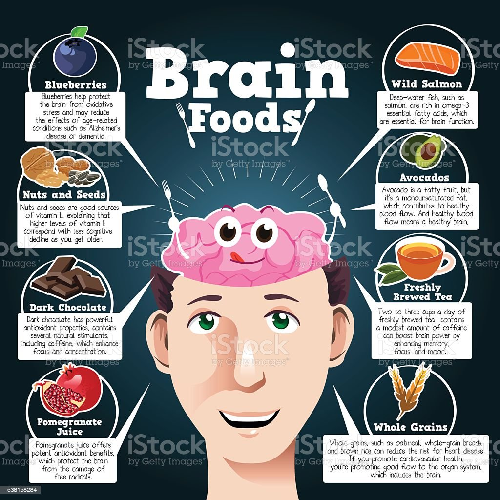 Brain Foods vector art illustration