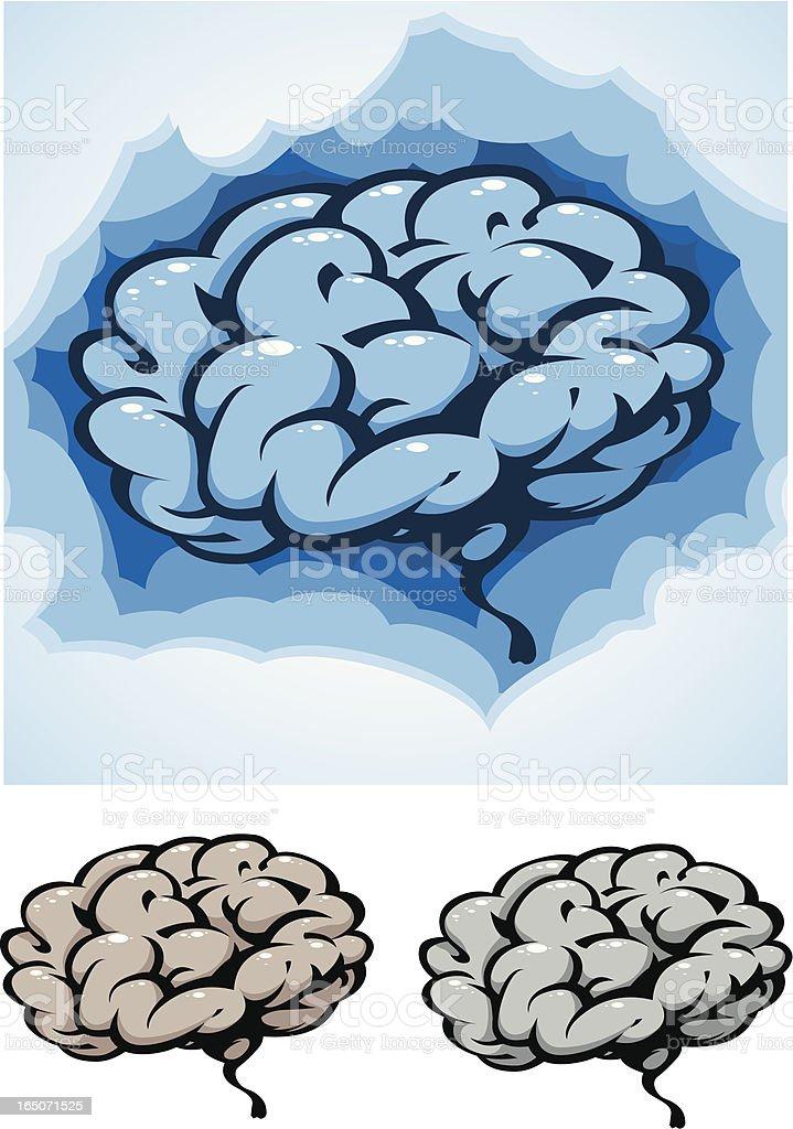Brain Freeze royalty-free stock vector art