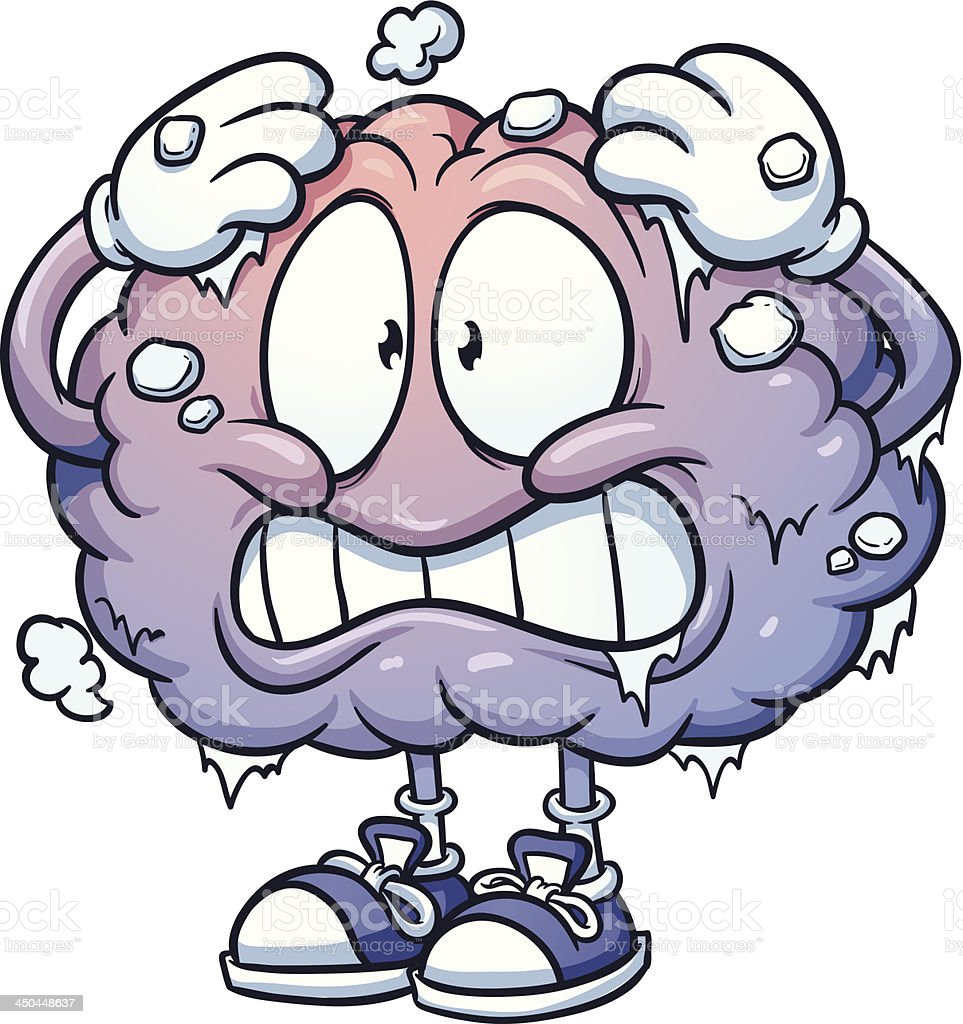 Brain freeze vector art illustration