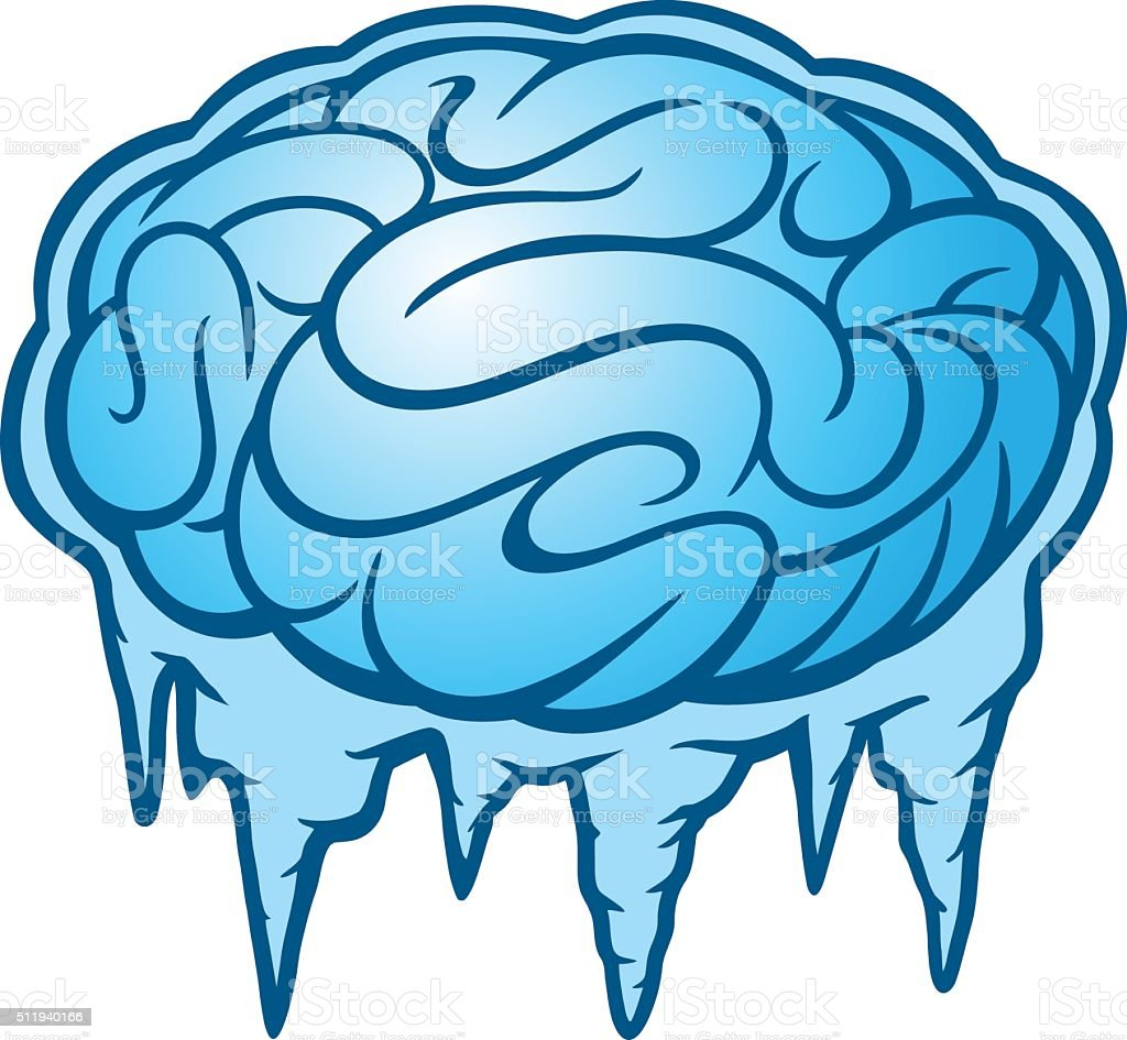 Brain Freeze vector art illustration