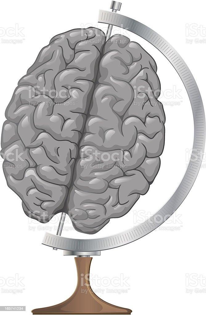 Brain Globe royalty-free stock vector art