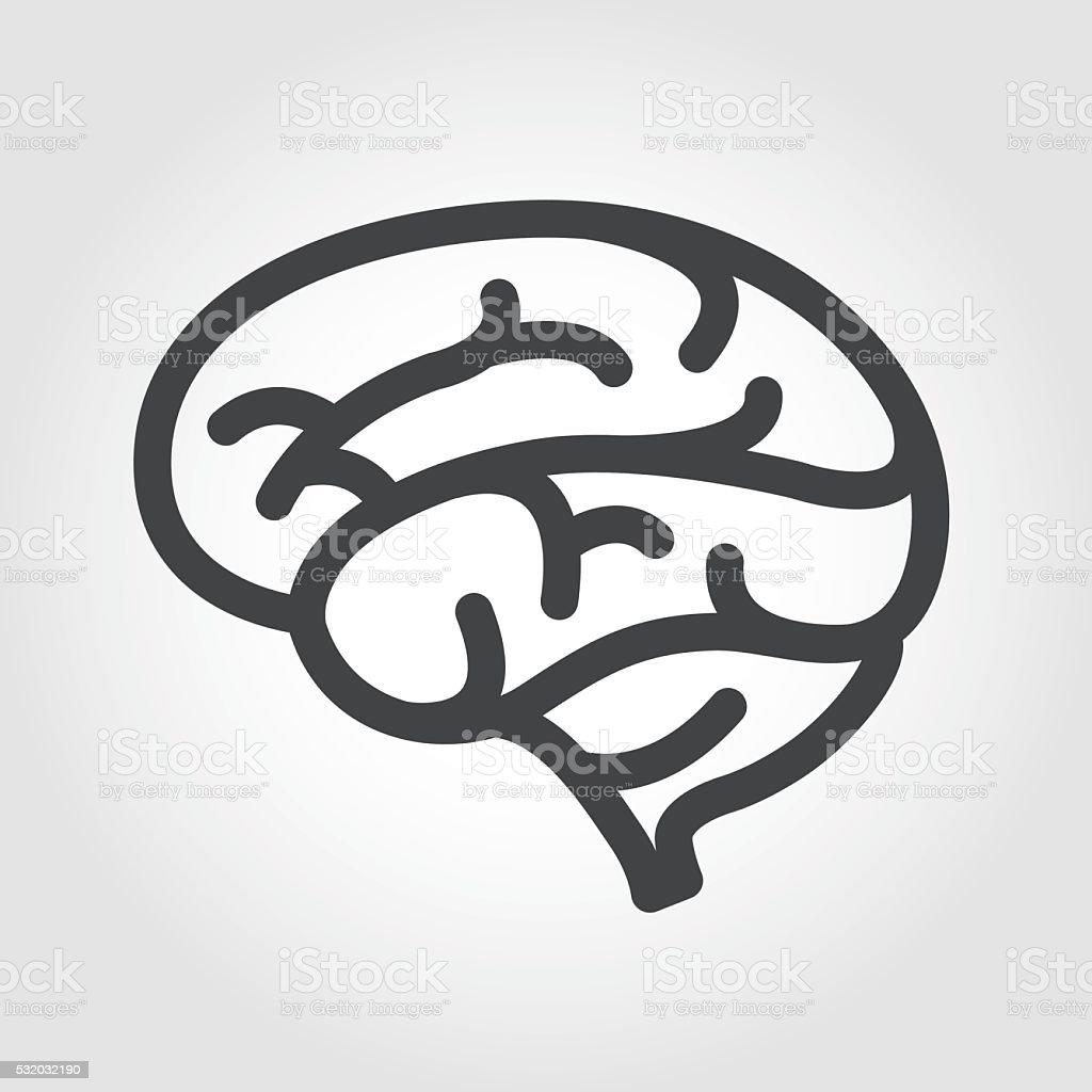 Brain Icon - Iconic Series vector art illustration