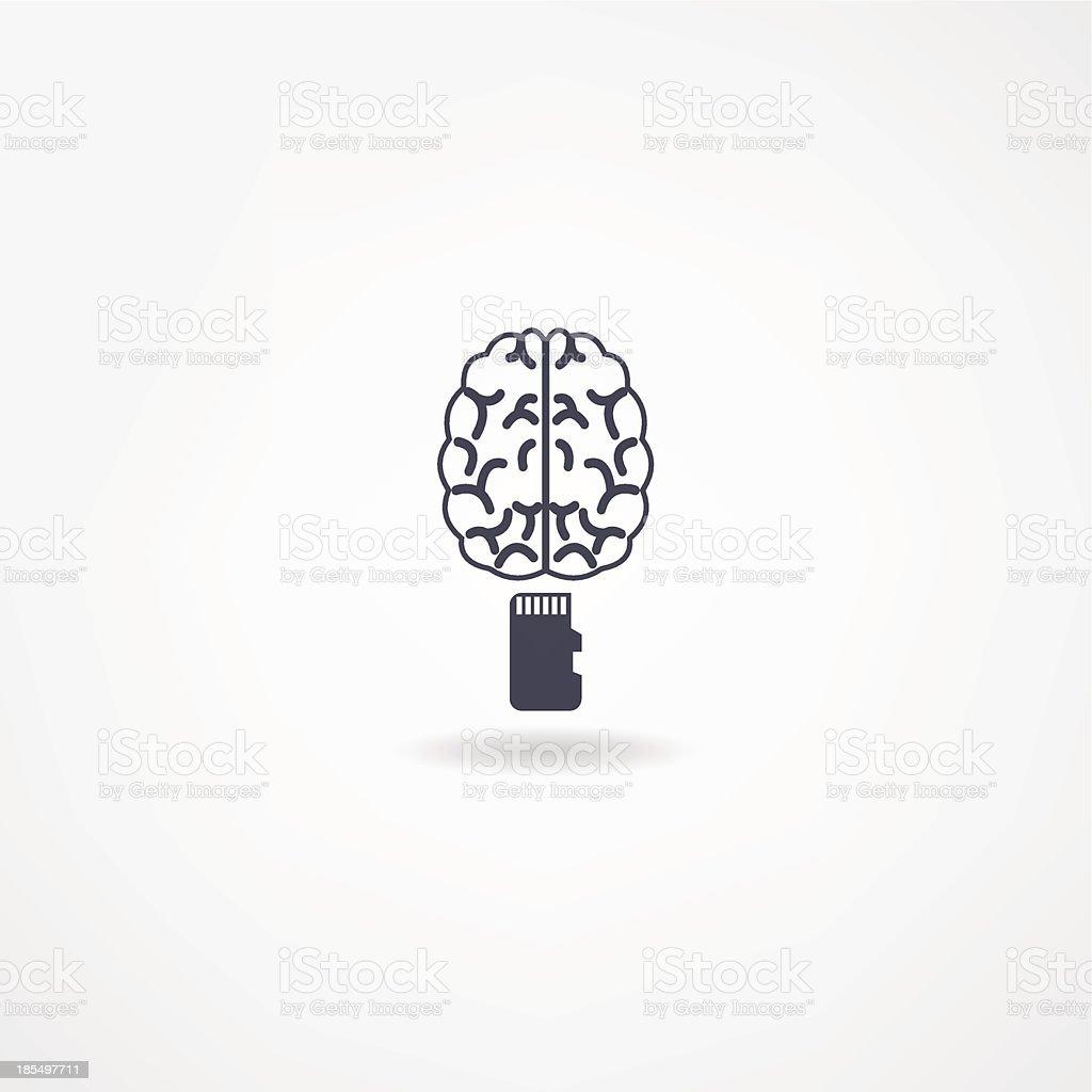 brain icon royalty-free stock vector art
