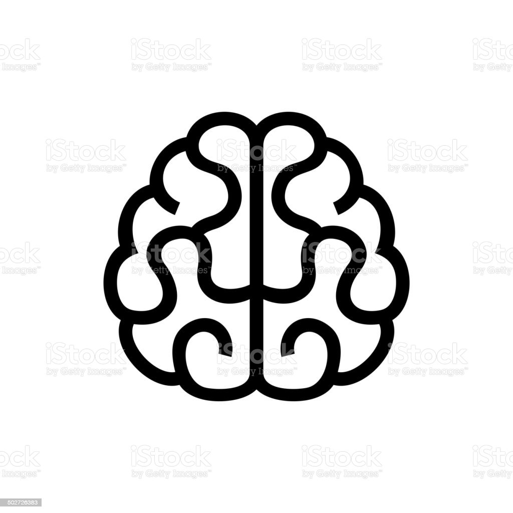 Brain Icon. Vector on White Background royalty-free stock vector art