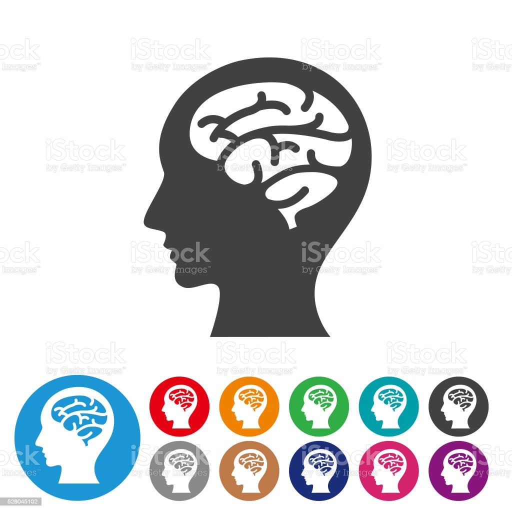 Brain Icons - Graphic Icon Series vector art illustration