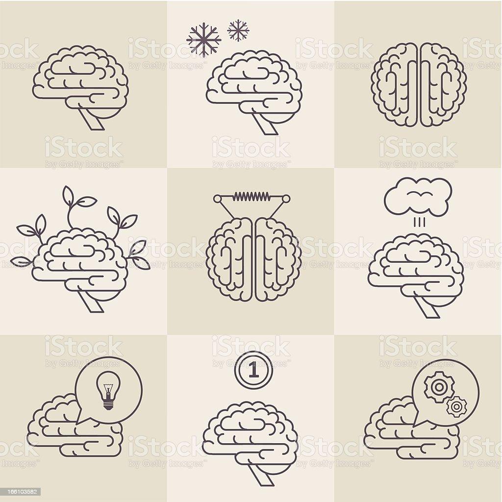 Brain icons royalty-free stock vector art