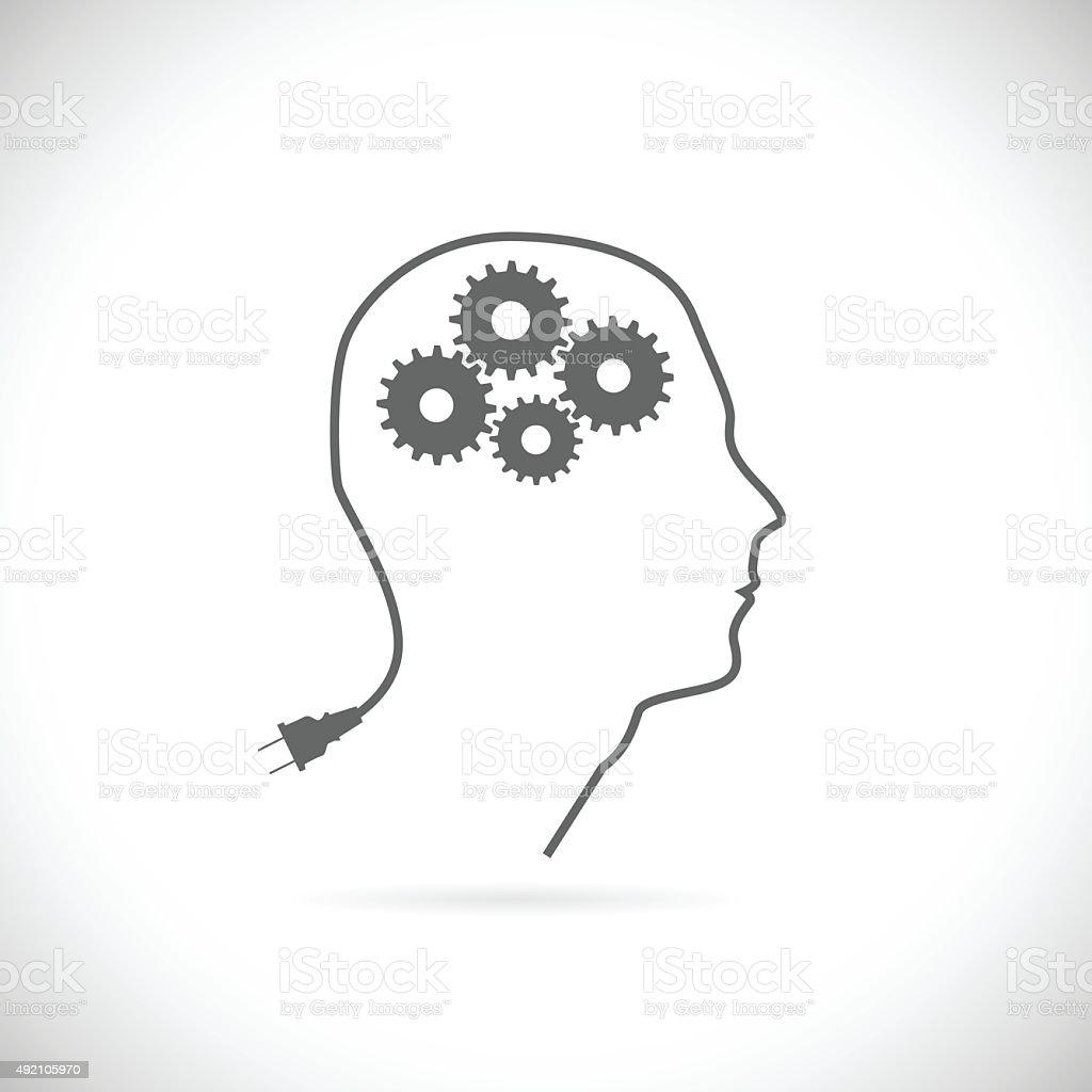 Brain Idea Illustration vector art illustration