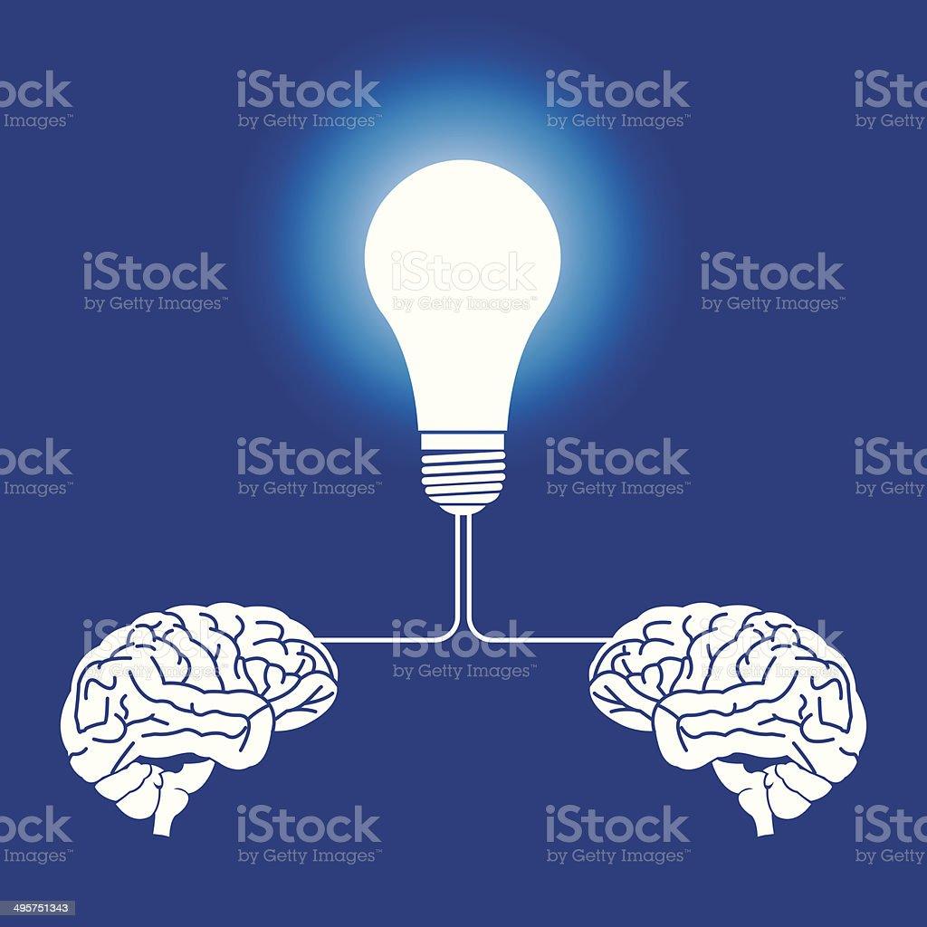 Brain illustration royalty-free stock vector art