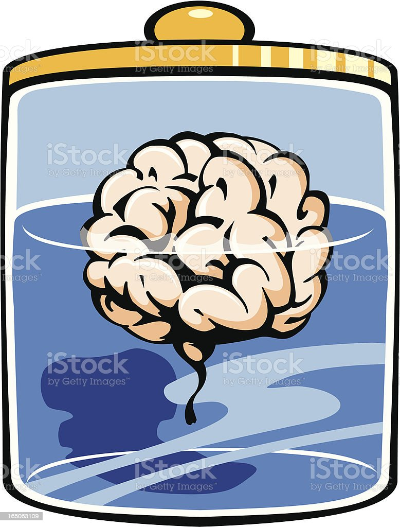 Brain in Formaldehyde royalty-free stock vector art
