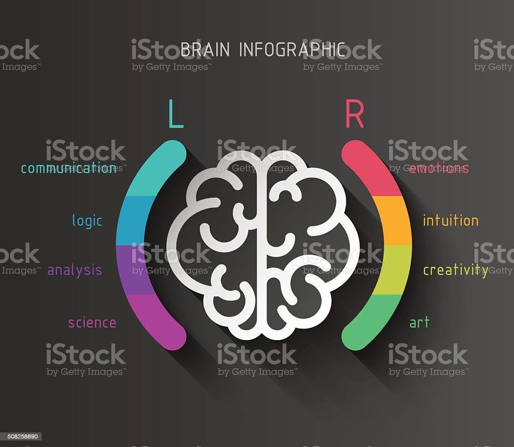 Brain infographic concept vector art illustration