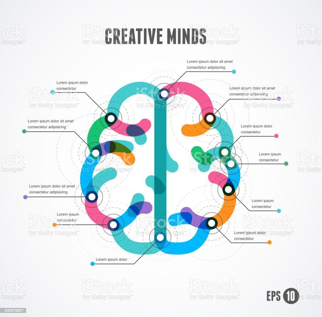 Brain infographic concept. Vector illustration vector art illustration