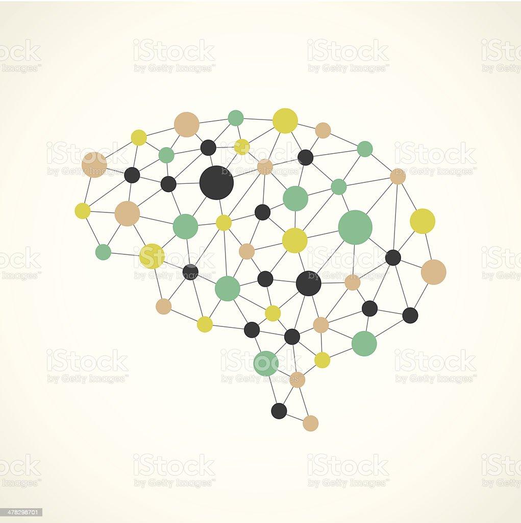 Brain Network vector art illustration