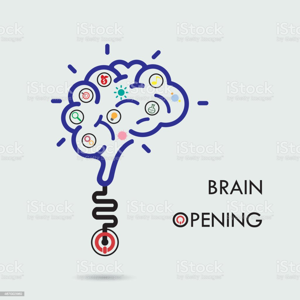 Brain Opening Conceptcreative Brain Abstract Logo Design ...