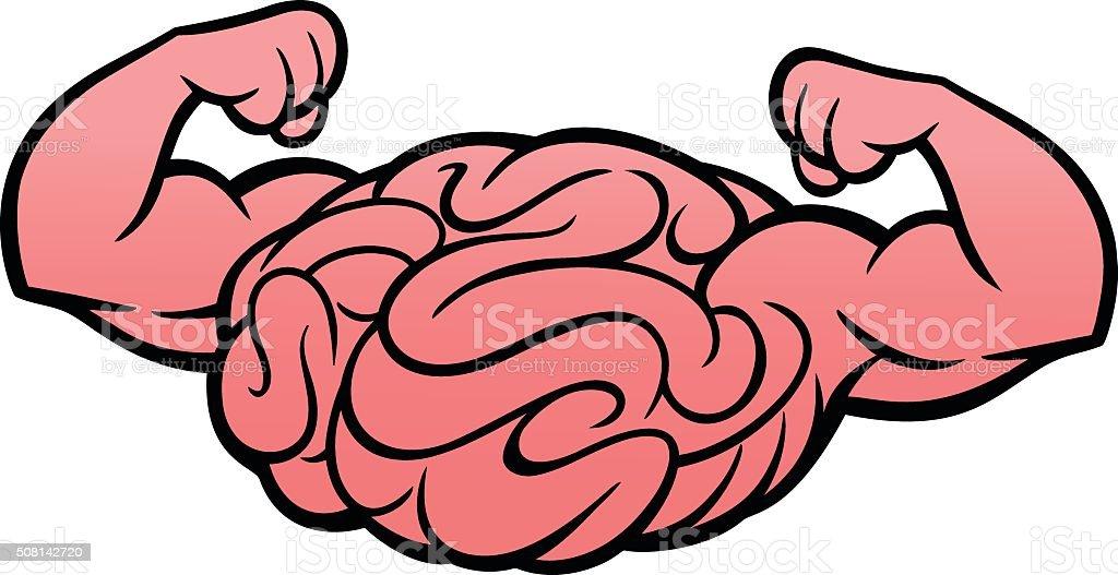 Brain Power Icon vector art illustration