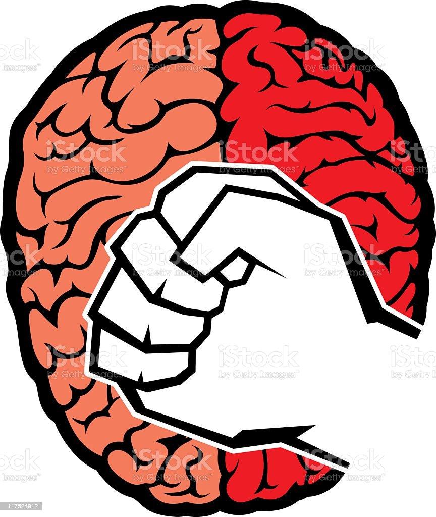 Brain Power royalty-free stock vector art