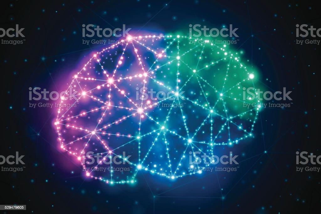 Brain Power vector art illustration