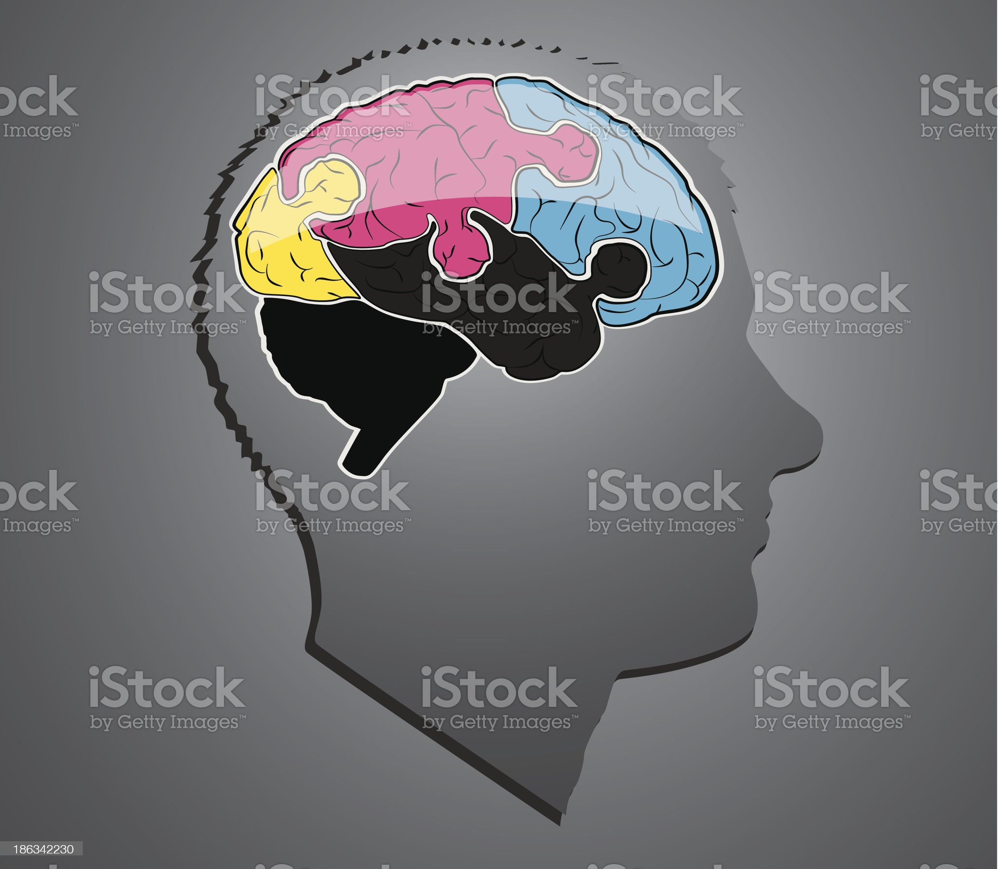 brain puzzle royalty-free stock vector art