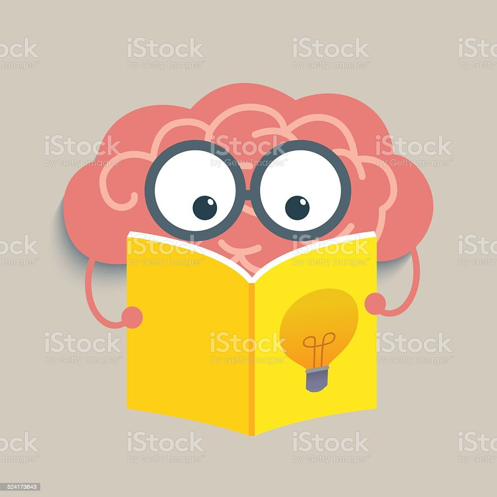 Brain Reading vector art illustration