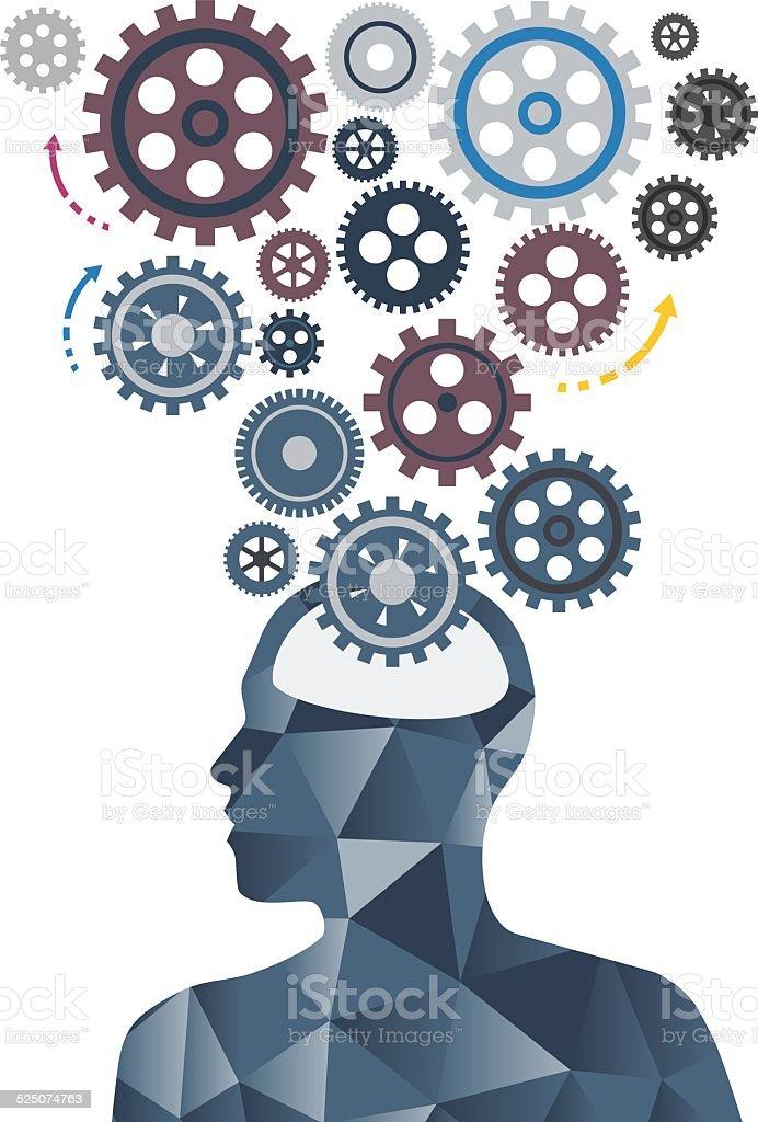 Brain Solution vector art illustration
