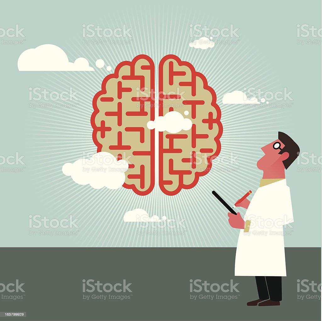 Brain specialist royalty-free stock vector art