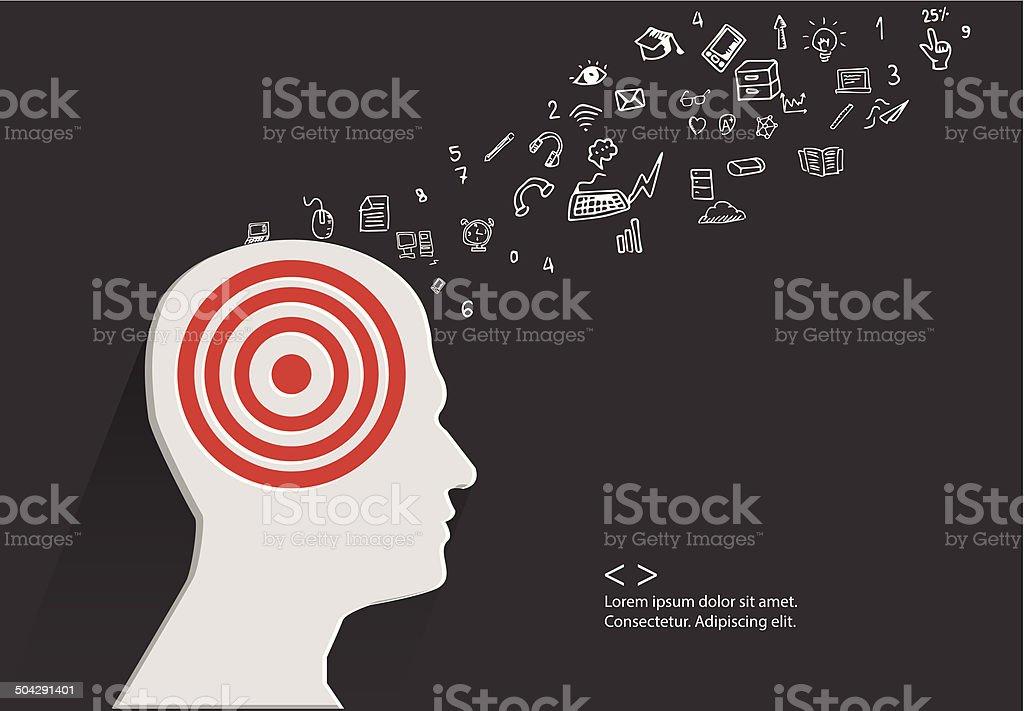 Brain storm concept,vector vector art illustration