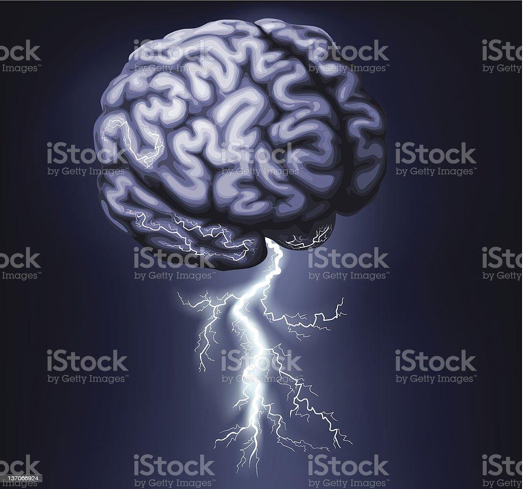 Brain Storm Illustration vector art illustration