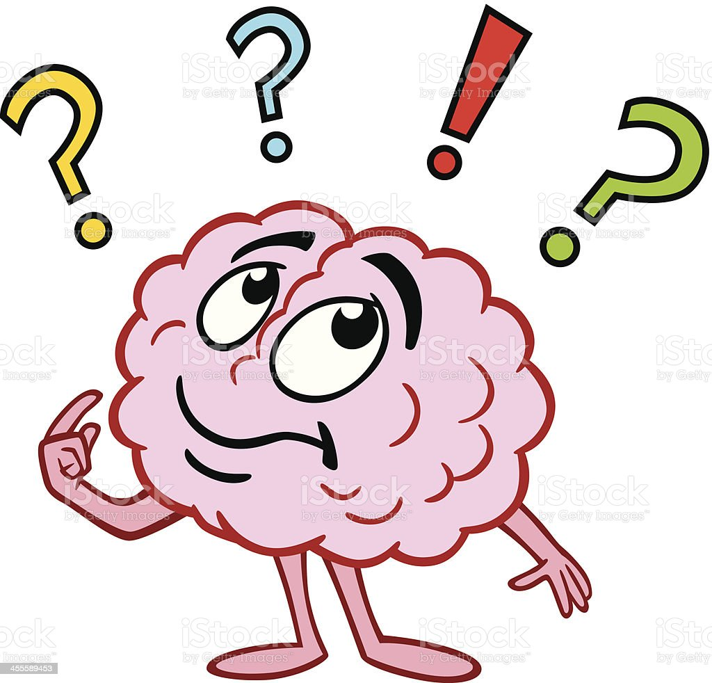 Brain Thinking vector art illustration