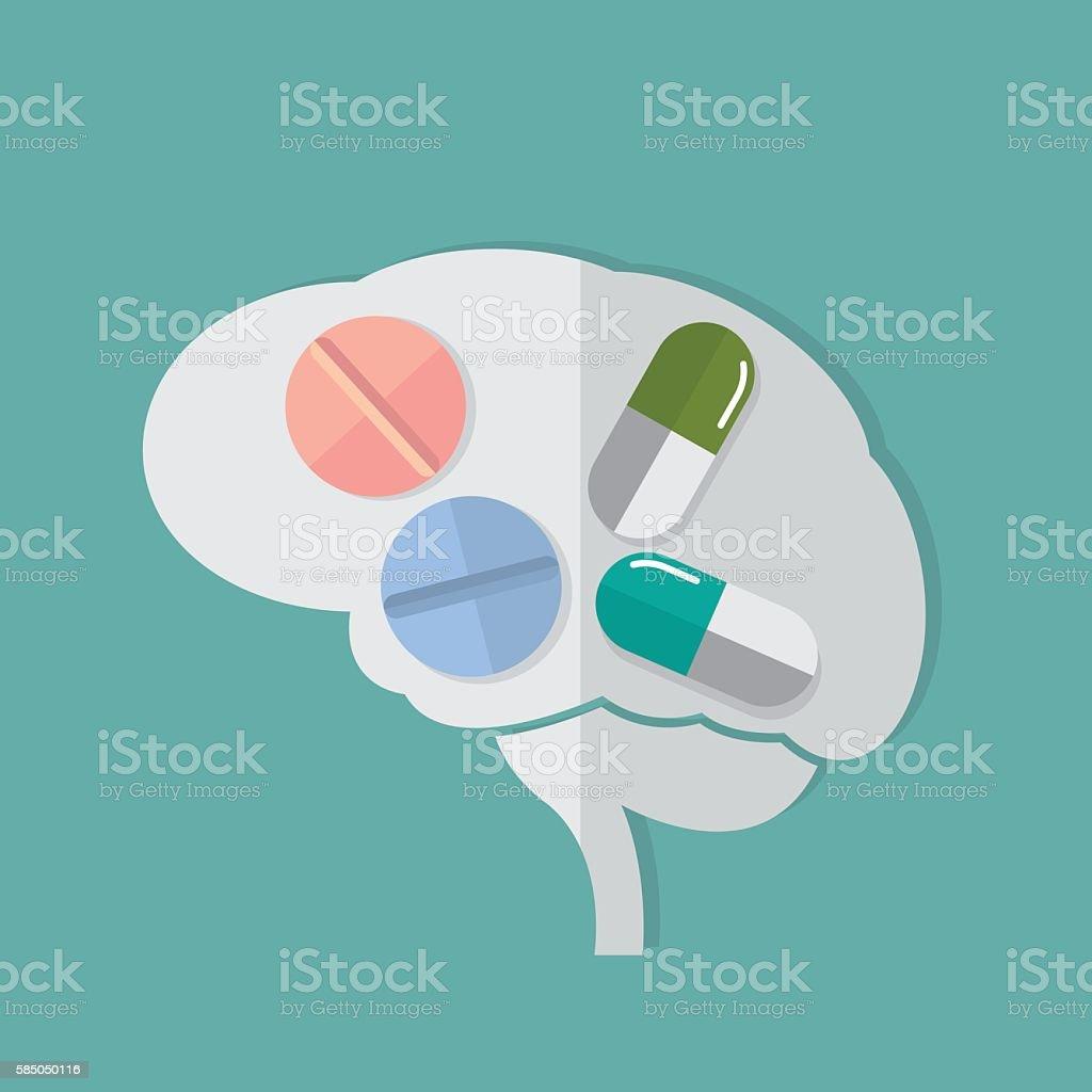 Brain Tonic vector art illustration