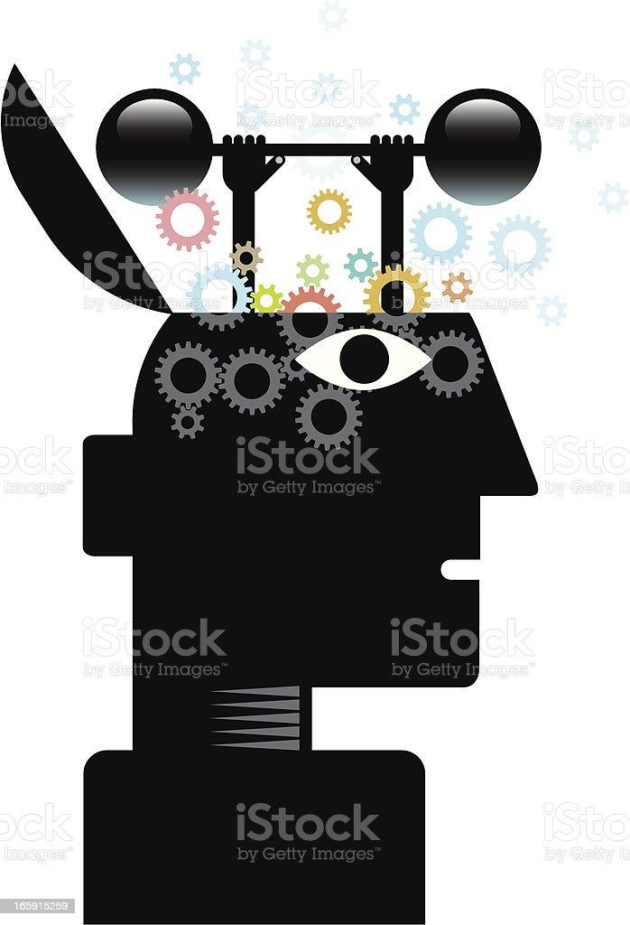 Brain training royalty-free stock vector art