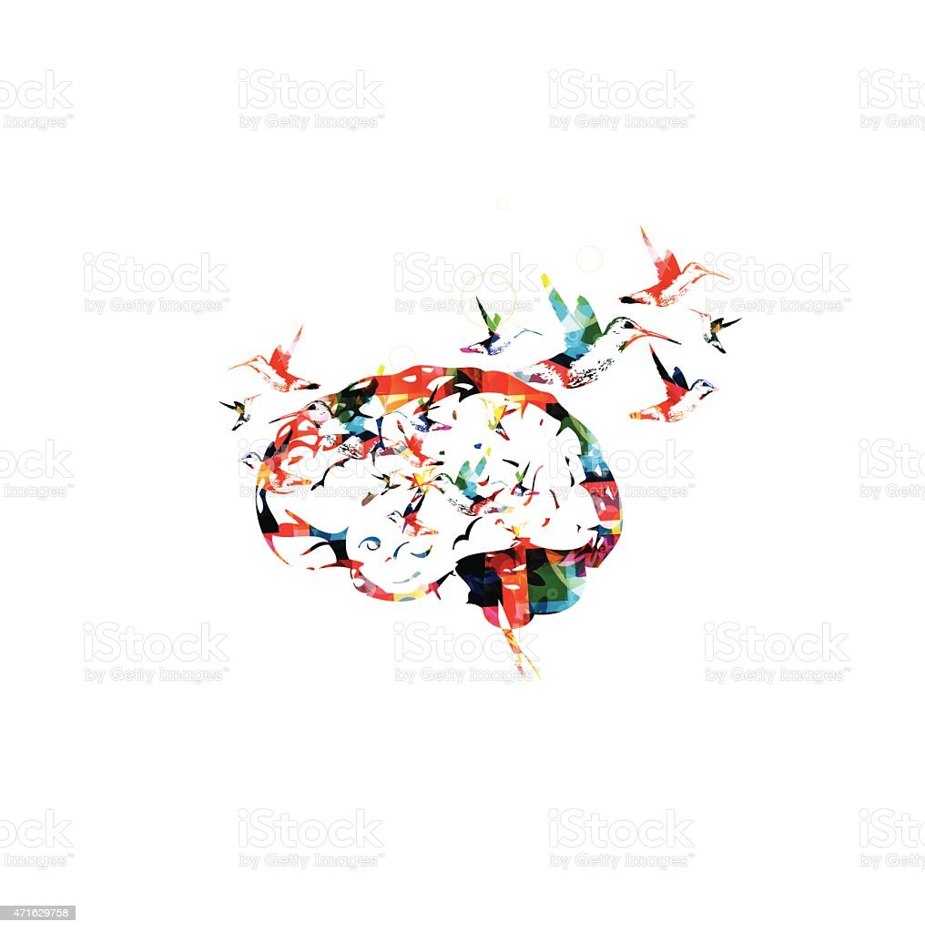 Brain vector background vector art illustration