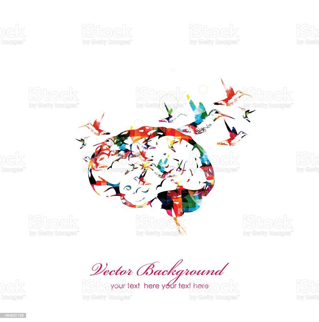 Brain vector background vector art illustration